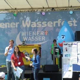 """Gewinn der 4.a beim Schulwettbewerb """"Wasser bewegt"""""""