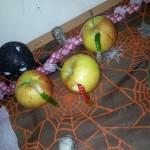Verfaulte Äpfel mit Würmern – Igitt!