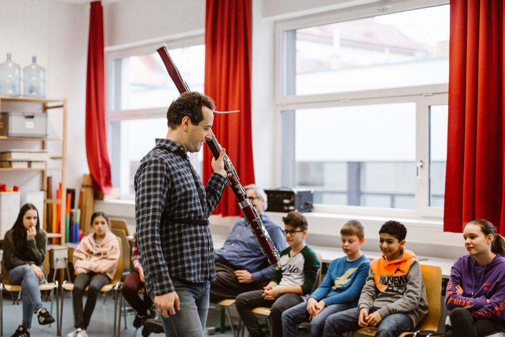 Feuervogel Workshop -Leonard Eröd mit dem Fagott