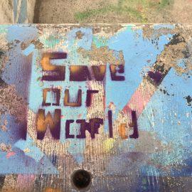 Graffitis zur Klimaaktionswoche